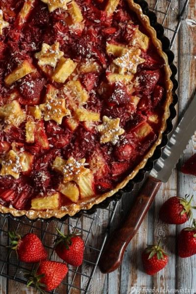 Erdbeer-Ananas-Tarte