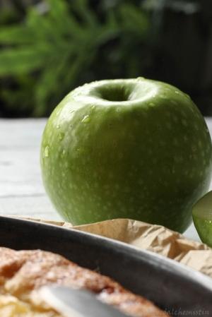 Apfel-Weißwein-Galette