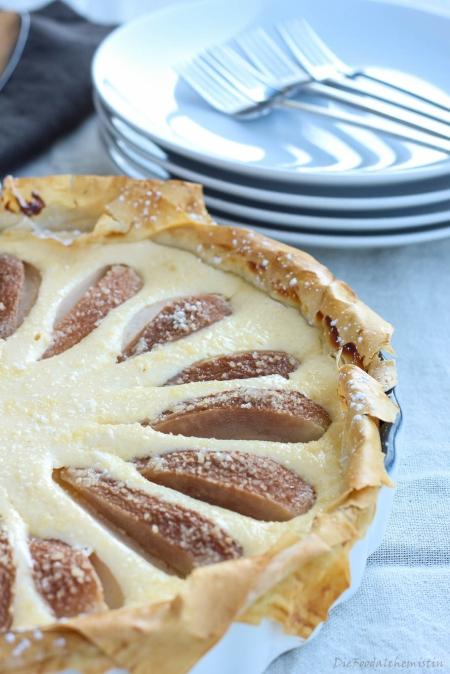 Birnen-Käsekuchen-Tarte