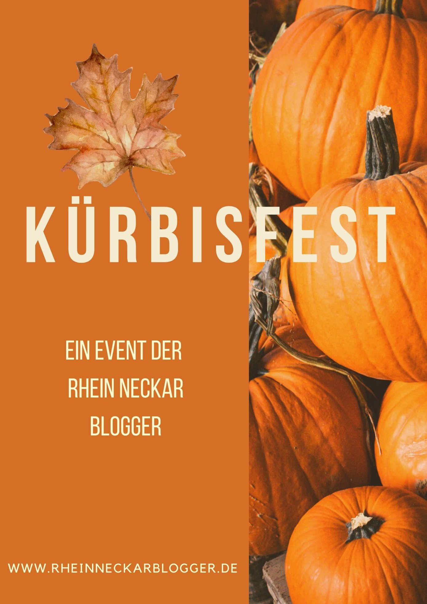 Plakat Kürbisfest